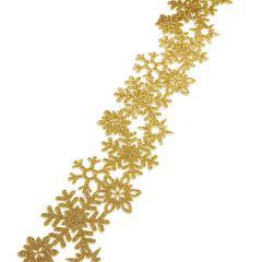 Decorazione in feltro glitter dorato 1mt