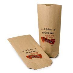 Bolsa Kraft para regalo Noche de Reyes, 12x22,5cm. min.25