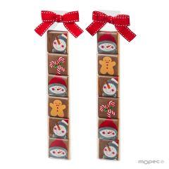 Estuche 6napolitanas Snowman collection min.2*