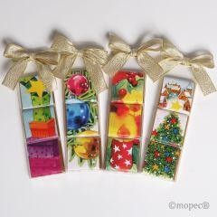 Boîte 3 chocolats moments de Noël assort.