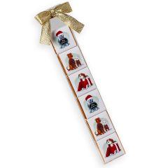 Estuche 6napolitanas con perritos navideños