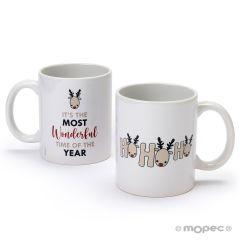 HoHoHo mug en céramique renne avec boîte cadeau