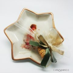 Vassoio ceramica 20cm con 4 cioccolatini SCONTO DELIZIA