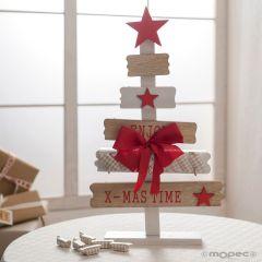 Enjoy Xmas time albero per chiavi 22x39cm con 8 caramelle
