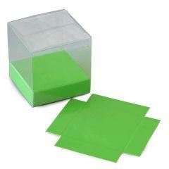 Base verde charol barniz polipropil. 5,7x1,5x5,7cm.min.25