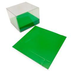 Base cartocino verde lucido 10x2x10cm