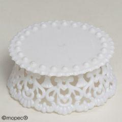 Peana pastel pequeña plástico 8cm diam. x 3,8cm