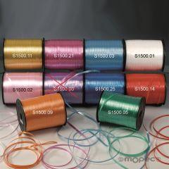 Cinta rizar lisa de 5mm. x 500 mts., disponible en varios colores