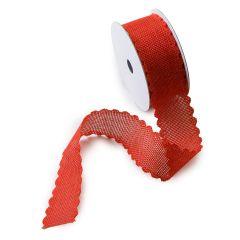 Ruban rouge avec des vagues 37mmx4,57mts.