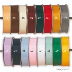 Glass ribbon in various widths and colors