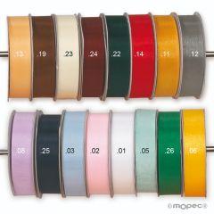 Ruban en verre de différentes largeurs et couleurs