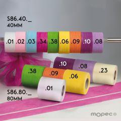 Nastro floreale in varie larghezze e colori 20mt.