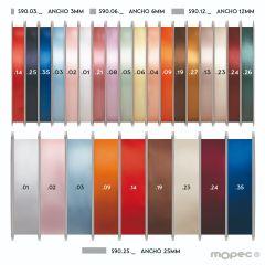 Edge satin ribbon various widths and various colors 100mt