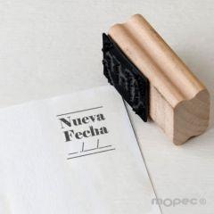 Sello rectangular Nueva Fecha para todos los eventos  2,6x3,5 cm.