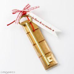 Llave rotulador 4 napolitanas con tarjeta Eres la llave....