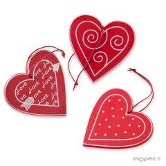 Colgante corazón rojo San Valentín, 3stdo.min.9