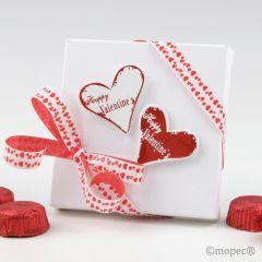 Boîte 4 chocolats Happy Valantine`s