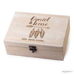 Cassa in legno personalizzata 23x17cm Sueños, vivencias...