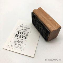 Timbro personalizzato rett. Sim Sim  Nova Data  3x5,5cm
