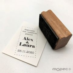 Personalized stamp Our plan is still on 3x5,5cm, Spanish