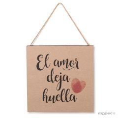 Decorative frame El amor deja huella 20x20x2cm