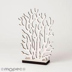 Figure de corail en bois blanc 8x19cm.