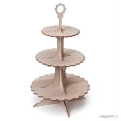 3 tier cupcake stand 43cm. height