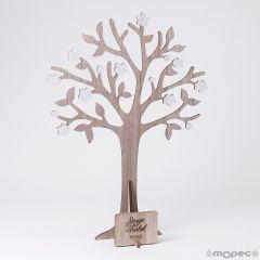 Árbol de los deseos y joyero con placa 29x40cm,