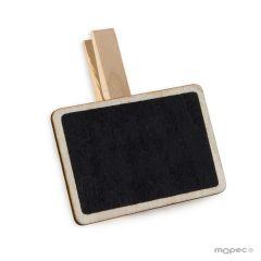 Pinza rectangular de pizarra (6,5x4,5cm) tiza incluida