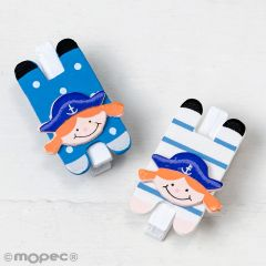 Wooden marine girl clothes peg 4,7cm SWEET PRICE