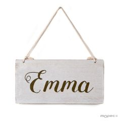 Personalized wooden picture 22,5x11,5cm.