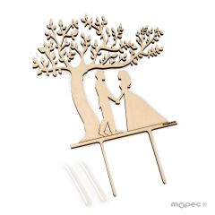 Tree of Life wedding couple cake topper 17x18cm.