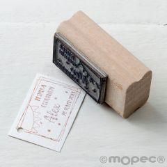 Tampon personnalisé rect.Communion/contour guirnalde 5,5x3cm