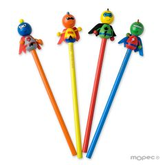 Lápices superhéroes 4surtido, min.4