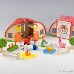 Set caja-granja madera 15pcs P.GOLOSO