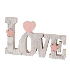 Decoración madera Love 20cm.