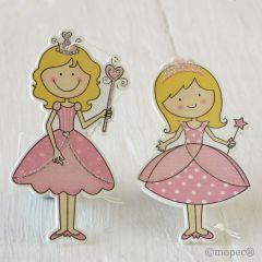 Princesas de madera con colgante, min.4