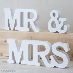 Set madera MR & MRS 3piezas, blanco