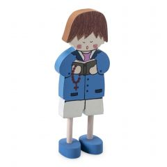 Niño madera cantando 12cm min.12 P.GOLOSO