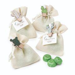 Bag with cactus peg and 3 chocolates 4models asstd.