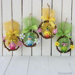 Corona mimbre bichitos bosque,4stdo. 4 caramelos., min.4