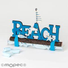 Affiche en bois Beach 9 bonbons