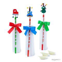 Lápices instrumentos musicales stdo.con 3 caramelos, min.3