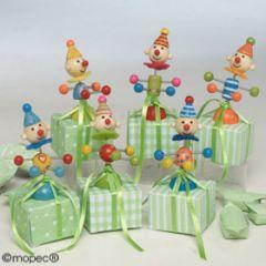 Clown en bois aimant 2 bonbons PRIX DOUX