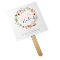 Abanico de papel Corona de Flores... min.25