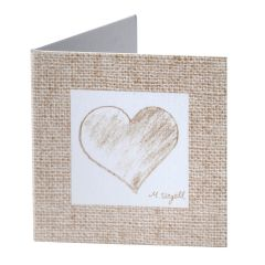 Tarjeta librito corazón color beige, preciox100uds