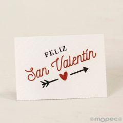 Tarj. precortadas Feliz San Valentín 5x3,5cm., 36xhj., min.5