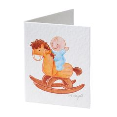 Book card Pita wooden horse pricex100u.