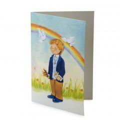 Portafoto niño Comunión arco iris, min25