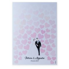 Illusion poster to frame for bride and groom 29,5x42cm